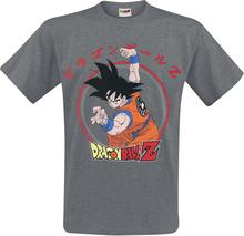Dragon Ball - Z - Goku -T-skjorte - gråmelert