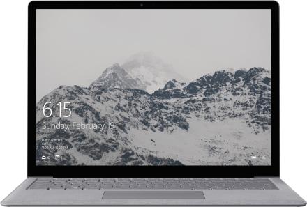 Surface-kannettava – 128 Gt / Intel Core i5 / 8 Gt:n RAM (platinanvärinen)