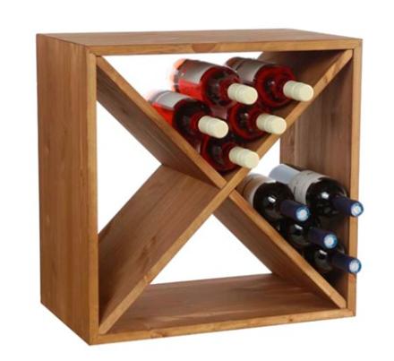 Traditional Wine Racks Wine Cube Vinställ 24 flaskor Mörk Ek