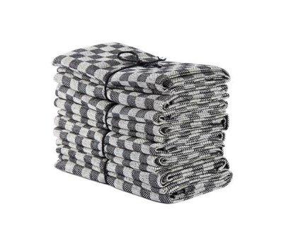 Axlings Linne 2-pack Handduk Schack betong/vit