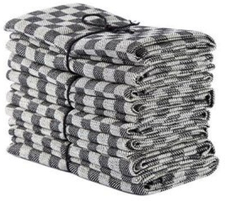 Axlings Linne 2-pack Handduk Schack svart/vit
