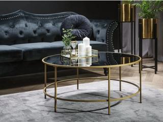Soffbord svart/guld FLORENCE