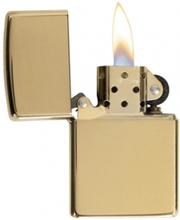 Zippo High Polish Brass - Lighter - Poleret messing