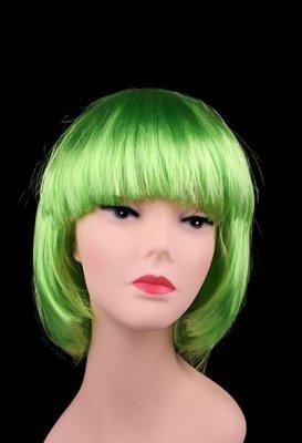 Syntetisk peruk, Grön