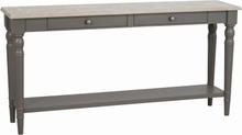 Lorient avlastningsbord gråpigmenterad furu/gråmålad 150 x 37 cm