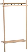 Milford klädställning ek/svart metall 180 x 90 cm