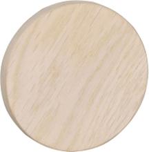 Milford väggknopp vitpigmenterad ek 8 cm