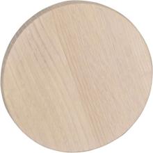 Milford väggknopp vitpigmenterad ek 12 cm