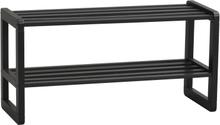 Metro skoställ svart ek 80 x 30 cm