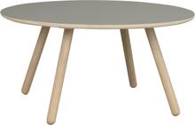 Russel soffbord grå hpl/vitpigmenterad ek 90 x 90 cm