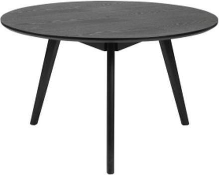 Yumi soffbord svartbetsad ask 90 x 90 cm