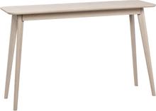 Yumi avlastningsbord/skrivbord lackad vitpigmenterad fanérad ek 120 x 40 cm