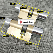 Door Cylinder Model 11 Biased Lock 85 86 98 102 105 106mm Cylinder AB Key Anti-Theft Entrance Brass Door Lock Core Extended