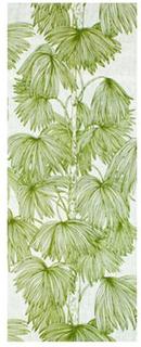 Löpare Palma vit/ljusgrön Mairo