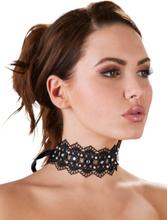 Cottelli Jewels - Choker halsband med pärlor och stenar
