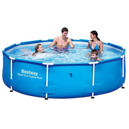 Bestway Steel Pro rundt svømmebassin 305 x 76 cm stålramme 56406