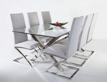 Maine matbord 198 cm - Glas / Krom