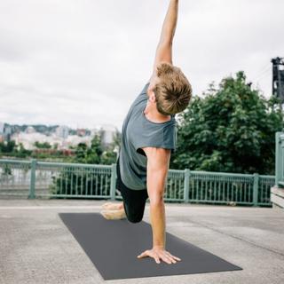 Gaiam Atletisk Sort fitness / yogamåtte