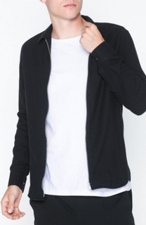 Whyred Stone Zip Crepe Skjorter Black