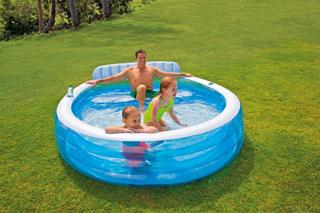 Intex Swim Center Familie Lounge Pool oppustelig pool