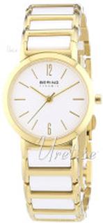 Bering 30226-751 Ceramic Hvid/Gul guldtonet stål Ø26 mm