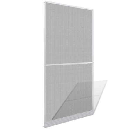 vidaXL Valkoinen Saranoitu Hyönteisverho Oveen 100 x 215 cm