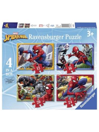 Spiderman Puzzle 4in1