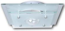 vidaXL Taklampa glas fyrkantig 1 x E27 kristall