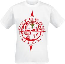 Cypress Hill - Skull Compass -T-skjorte - hvit