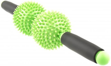 FitNord Spiky ball massage stick roller 9 cm, green