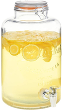 vidaXL Glasbehållare XXL med tappkran transparent 8 L