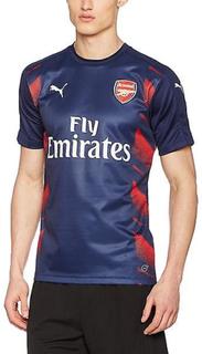 PUMA Arsenal FC menns Jersey AFC Stadium Jersey med sponsor logo