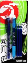 Auchan - Zestaw długopisów żelowych +3 wkłady