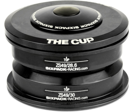 Sixpack The Cup Styrfitting ZS49/28.6 I ZS49/30 sort 2019 Styrfittings Semi-integrerede