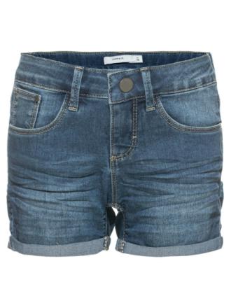 Tada Slim Shorts Dark Blue Denim, Name It