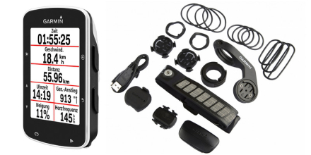 Garmin Edge 520 Bundle Navigationsudstyr sort 2018 GPS apparater