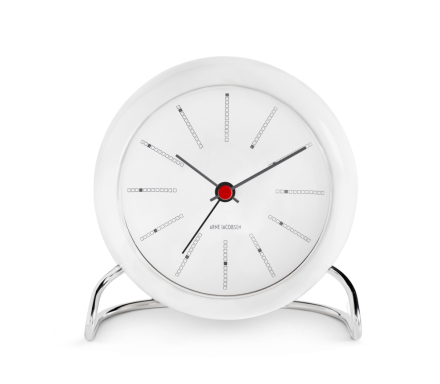 Arne Jacobsen Bankers, Table Clock med alarm