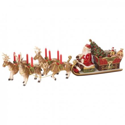 V&B Christmas Toys Memory Santa's Sleigh-ride 22x70x16cm