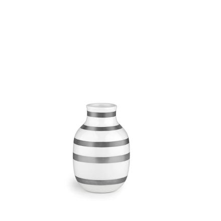 Kähler Omaggio vase sølv 12,5 cm
