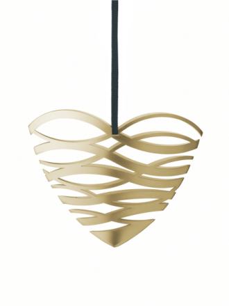 Stelton Tangle Hjerte stor Messing B: 18,5 H: 14cm