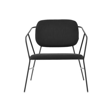 House Doctor Klever Lounge Stol Metall Sort 2stk