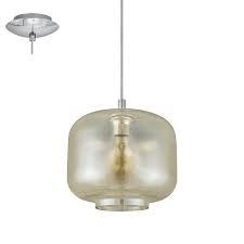 Eglo Brixham Tak Krom / Glass / Alu