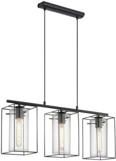 Eglo Loncino Tak Sort / Glass 3 Lyskilder