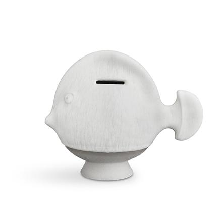 Kähler Sparedyr Hvit Fisk H 16 B 10 cm