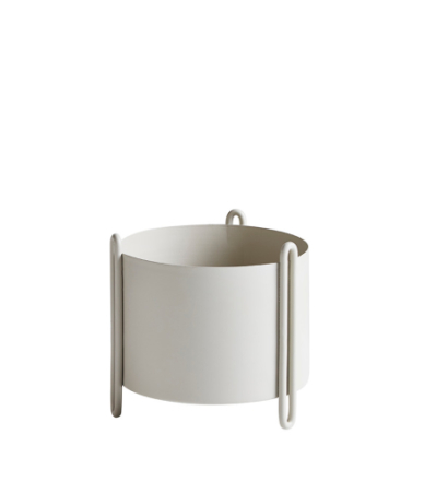 Woud Pidestall flowerpot, grey