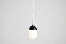 Dot pendant, large black
