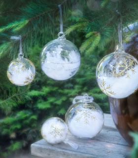 Magnor Himmel På Jord Julekule Gull m / Store Stjerner 80 mm