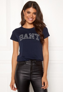 GANT Arch Logo T-shirt 433 Evening Blue XS