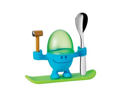 WMF McEgg eggeglass-sett 3 deler blå/grønn/stål