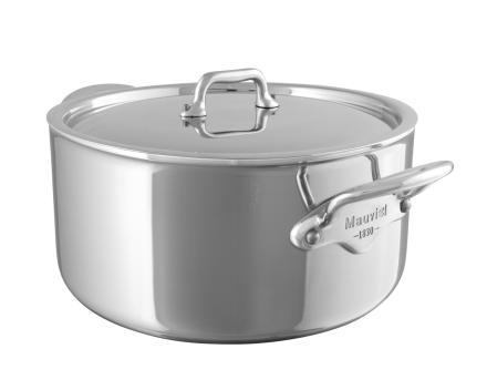 Mauviel Cook Style gryte med stållokk stål - 5,8 liter